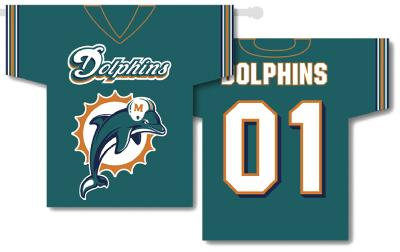 NFL Miami Dolphins 2-Sided Jersey Banner
