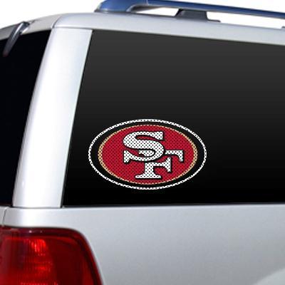 NFL San Francisco 49Ers Diecut Window Film