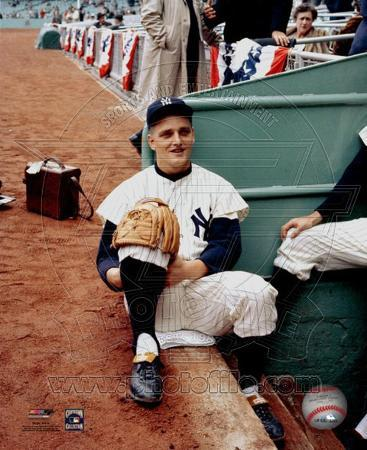 Roger Maris - # 3 Sitting on steps of dugout