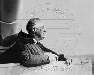 President Franklin Delano Roosevelt on board an American Warship 1935