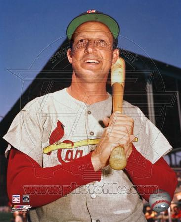 Stan Musial - Close up with bat, posed