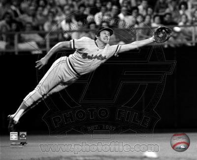 Brooks Robinson - 1973 Diving Catch, B&W