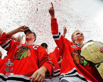 Jonathan Toews & Patrick Kane Chicago Blackhawks 2010 Stanley Cup Champions Victory Parade (#60)