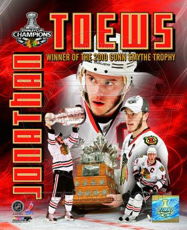 Jonathan Toews - 2010 Stanley Cup Conn Smythe Portriat Plus (#57)