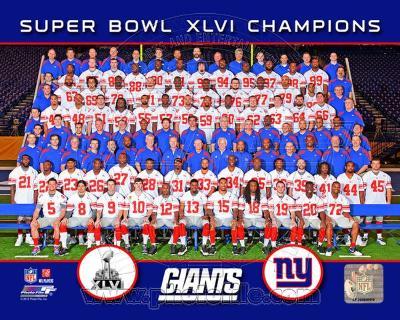 New York Giants Team Photo Super Bowl XLVI