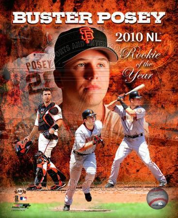 Buster Posey 2010 National League Rookie of the Year Portrait Plus
