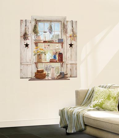 Country Things Trompe L'Oiel Window Wall Accent Mural Art Print Poster