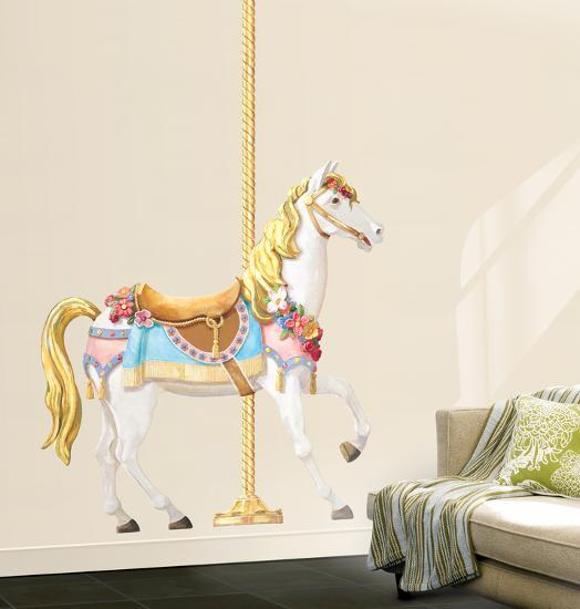 . Carousel Horse Wall Decal