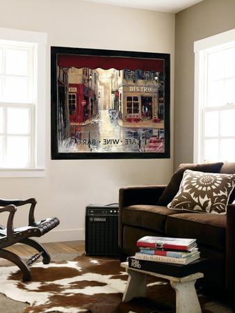 Café Window Huge Mural Art Print Poster
