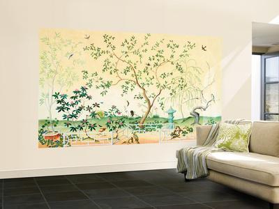 Asian Garden Small Huge Mural Art Print Poster