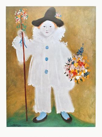 The Artist's Son Pierrot with Flowers , 1929