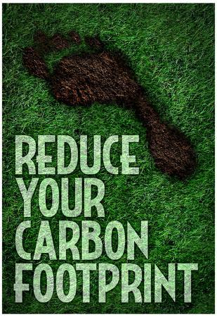 Reduce Your Carbon Footprint Motivational Poster