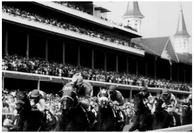 kentucky Derby Horse Racing Archival Photo Poster