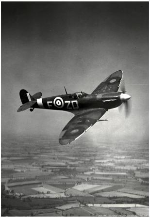 Supermarine Spitfire Mk V 1942 Archival Photo Poster