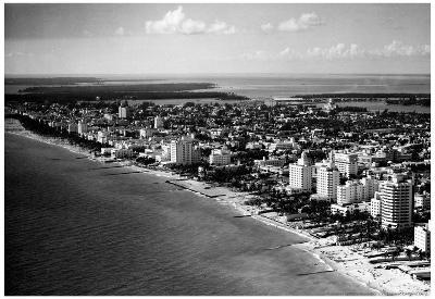 Miami Beach Florida 1948 Archival Photo Poster