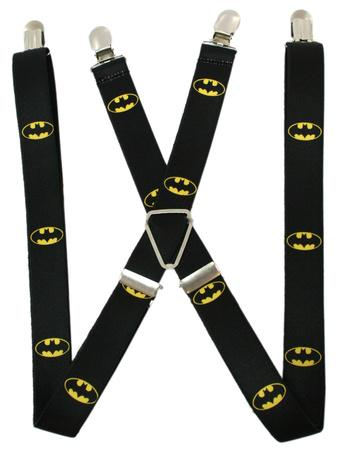 DC Comics - Batman Shield Black/Yellow Suspenders