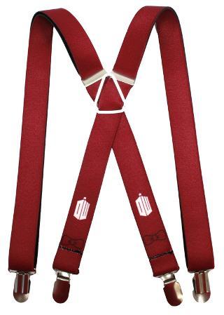 Doctor Who - Tardis Burgundy Suspenders