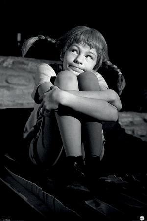 Pippi Longstocking (Black & White)