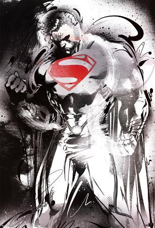 Man of Steel - Superman Red Logo Movie Poster
