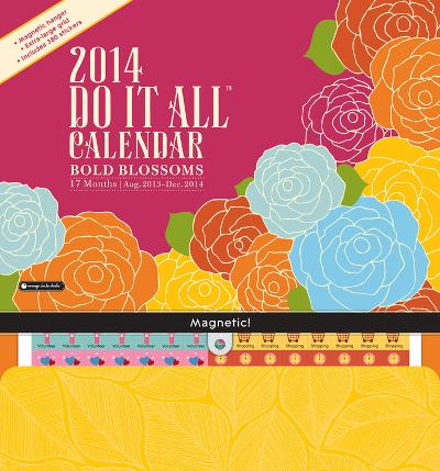 Bold Blossoms Do It All Wall - 2014 Calendar