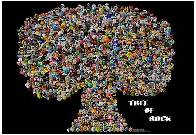 Tree of Rock Buttons by Gdogs Cosmic Rock Poster