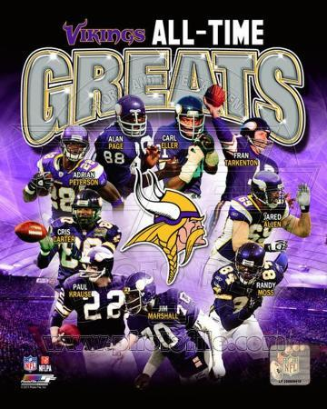 Minnesota Vikings All-Time Greats Composite