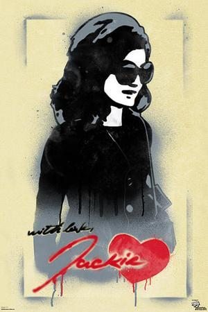 Jackie O With Love Pop Art Poster