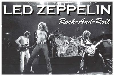 Led Zeppelin Rock and Roll Music Poster