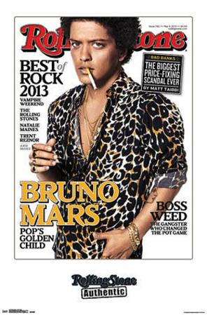Bruno Mars Rolling Stone Cover Music Poster