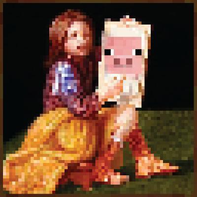 Minecraft Pig Portrait Premium Video Game Poster