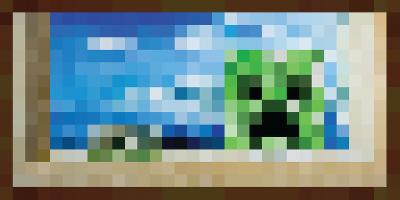 Minecraft Creeper Window Premium Video Game Poster