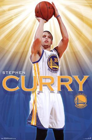 Stephen Curry - Golden State Warriors Basketball Poster