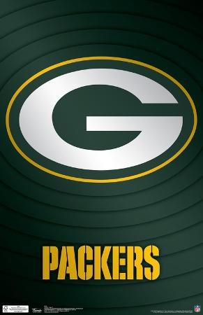 Green Bay Packers Logo NFL Sports Poster