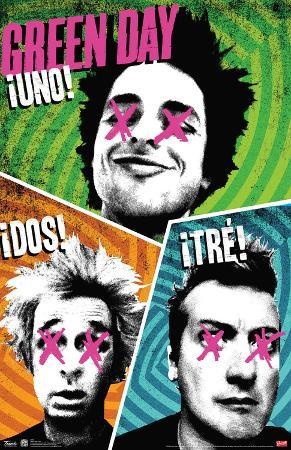 Green Day Uno Dos Tre Music Poster