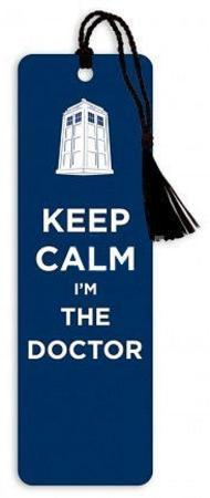 Doctor Who Keep Calm I'm the Doctor Tasseled Bookmark