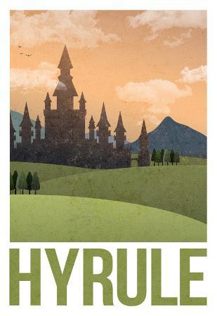 Hyrule Retro Travel Poster