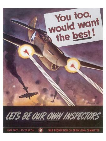 Let's Be Our Own Inspectors