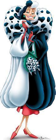 Cruella De Vil - 101 Dalmations Disney Villain Lifesize Standup