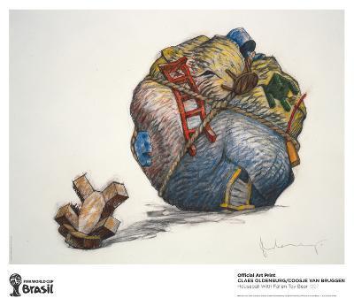 Houseball with Fallen Toy Bear