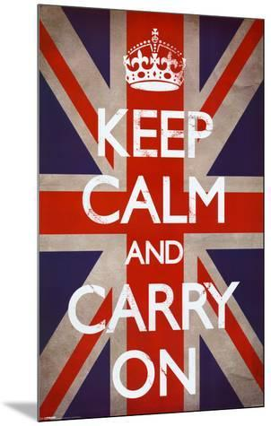 Keep Calm and Carry On (Motivational, Union Jack Flag)
