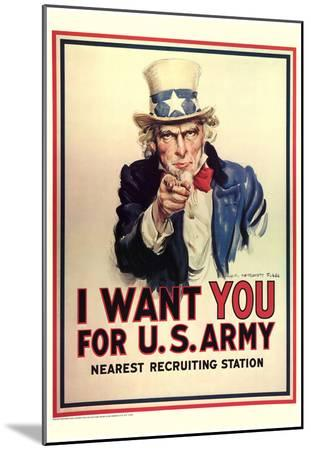 I Want You for U.S. Army Uncle Sam WWII War Propaganda Art Print Poster