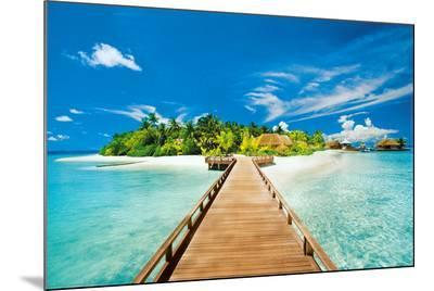 Summer Holidays Island Beach Art Poster Print