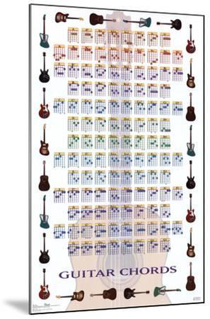Guitar Chords Learn to Play Print Music Poster