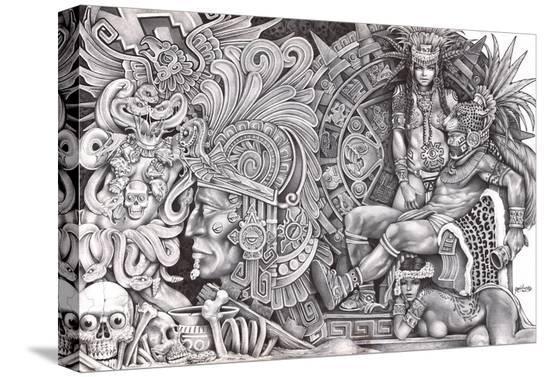 aztec murals coloring pages - photo#37