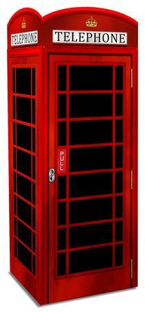 3 Dimensional Red British Phone Booth Lifesize Standup