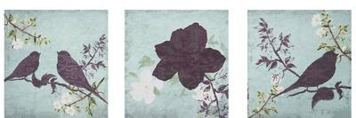 Floral Bird Triptych