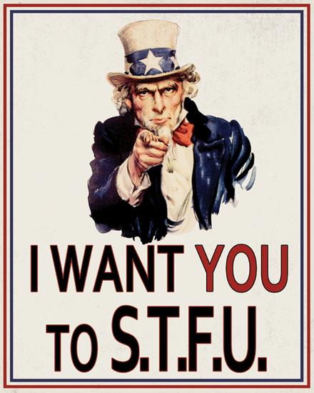 I Want You to STFU Tin Sign