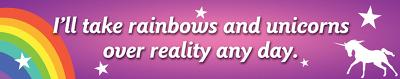 Rainbows and Unicorns Tin Sign