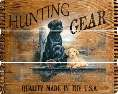 Hunting Gear Wood Sign