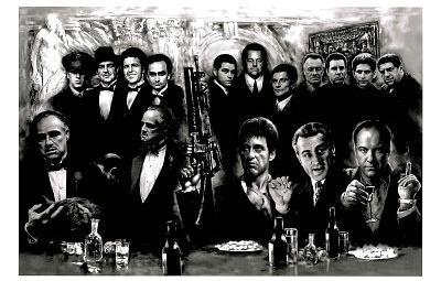 Godfather Goodfellas Scarface Sopranos Make Way for the Bad Guys Movie Poster Print